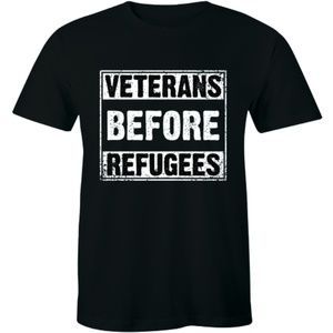 Veterans Before Refugees Anti Refugee Mens T-shirt